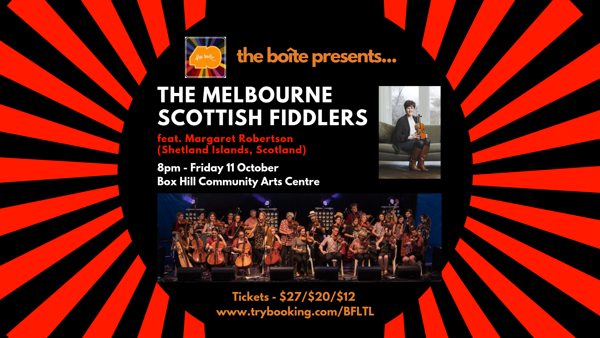 Melbourne Scottish Fiddlers live in concert with specail guest Margaret Robertson
